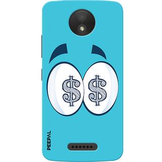 PEEPAL Motorola Moto C Plus Designer & Printed Case Cover 3D Printing All About Money Design