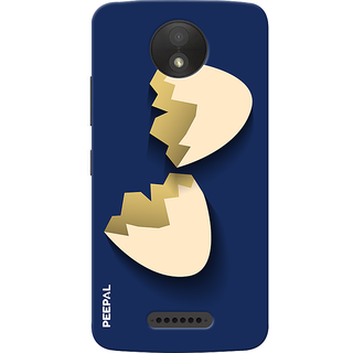 PEEPAL Motorola Moto C Plus Designer & Printed Case Cover 3D Printing Egg Shell Design