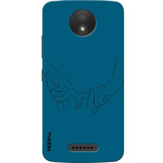 PEEPAL Motorola Moto C Plus Designer & Printed Case Cover 3D Printing Together Design