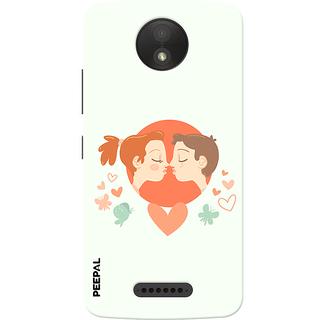PEEPAL Motorola Moto C Plus Designer & Printed Case Cover 3D Printing Love Kiss Design