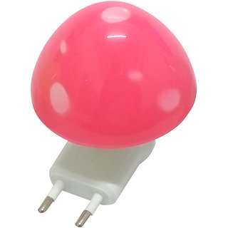 Cocodoes LED Night Lamp With ON-OFF Batton Wall Mushroom (Pink)