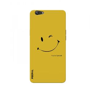 PEEPAL Oppo F1s Designer & Printed Case Cover 3D Printing Be Happy  Design