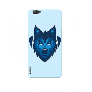 PEEPAL Oppo F1s Designer & Printed Case Cover 3D Printing Angry Wolf Design