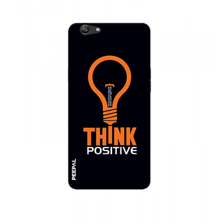 PEEPAL Oppo F1s Designer & Printed Case Cover 3D Printing Think Positive Design