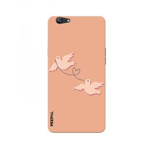PEEPAL Oppo F1s Designer & Printed Case Cover 3D Printing Love Birds Design
