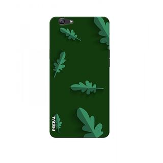 PEEPAL Oppo F1s Designer & Printed Case Cover 3D Printing Leaf Design