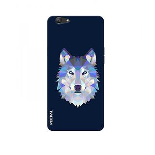 PEEPAL Oppo F1s Designer & Printed Case Cover 3D Printing Artist Wolf Design