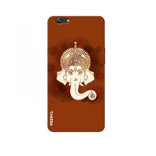PEEPAL Oppo F1s Designer & Printed Case Cover 3D Printing Ganesha Design