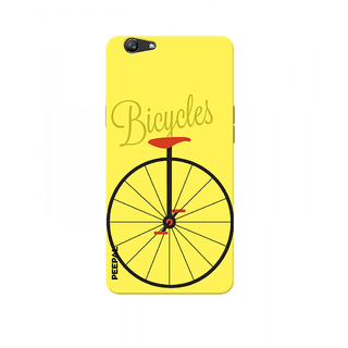PEEPAL Oppo F1s Designer & Printed Case Cover 3D Printing Bicycle Design