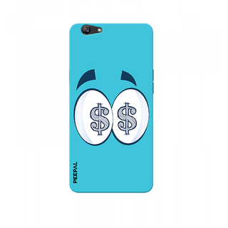 PEEPAL Oppo F1s Designer & Printed Case Cover 3D Printing All About Money Design