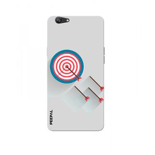 PEEPAL Oppo F1s Designer & Printed Case Cover 3D Printing Bulls Eye Design