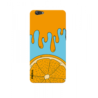 PEEPAL Oppo F1s Designer & Printed Case Cover 3D Printing Orange Design