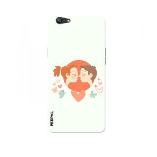PEEPAL Oppo F1s Designer & Printed Case Cover 3D Printing Love Kiss Design