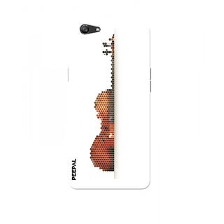PEEPAL Oppo F1s Designer & Printed Case Cover 3D Printing Guitar Design