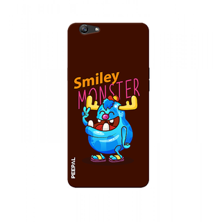 PEEPAL Oppo F1s Designer & Printed Case Cover 3D Printing Smiley Monster Design