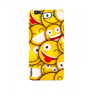 PEEPAL Oppo F1s Designer & Printed Case Cover 3D Printing Smiley Design