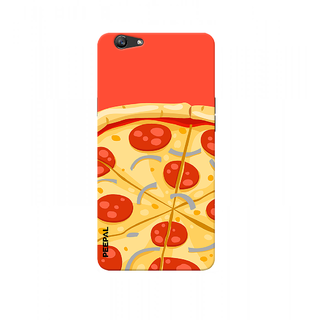 PEEPAL Oppo F1s Designer & Printed Case Cover 3D Printing Pizza Design