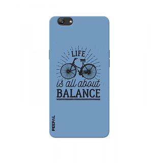 PEEPAL Oppo F3 Plus Designer & Printed Case Cover 3D Printing Balance Design