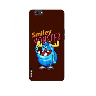 PEEPAL Oppo F3 Plus Designer & Printed Case Cover 3D Printing Smiley Monster Design