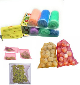 Fruits and vegetables fridge bags storage bags are very handy for separating and storing vegetables and fruits(set of 6)