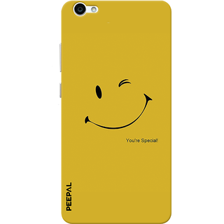 PEEPAL Vivo V5 Designer & Printed Case Cover 3D Printing Be Happy  Design