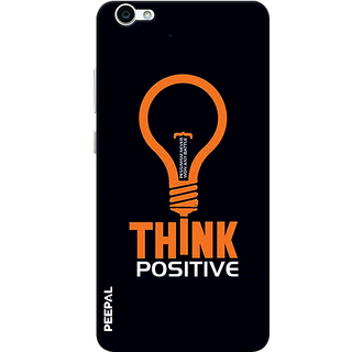 PEEPAL Vivo V5 Designer & Printed Case Cover 3D Printing Think Positive Design