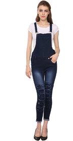 Manash Fashion Women Denim Dungaree Blue