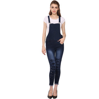 Manash Fashion Women Denim Dungaree Blue