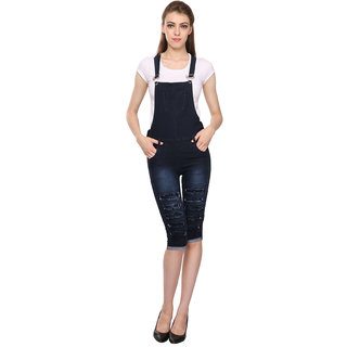 9ecb094031b Buy Manash Fashion Women Denim Dungaree Black Online - Get 52% Off