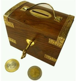 Triple S Handicrafts Piggy coin Coin Bank  (Brown)