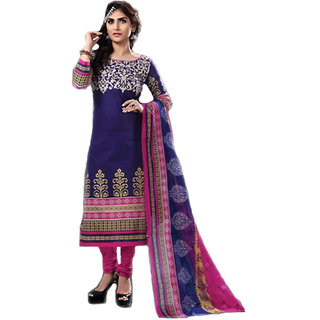 Saiprasad Women's Sakhi Cotton Unstitched Dress Material