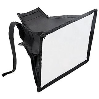 DSLRKIT Portable 15x17 cm Flash Diffuser Mini Flash Softbox for Canon Nikon Pentax Sony