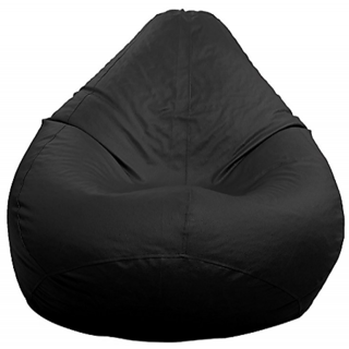 Urban Infatuation XXL Black Bean Bag Cover with 6 Months Warranty on Stitching Perfect for Home Decor
