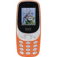 MTR MT3310 DUAL SIM MOBILE PHONE ORANGE COLOR