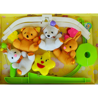 Toys Factory Sweet Cuddles Musical Cot Mobile Rattle (Multicolor)