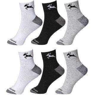 CalvinJones Unisex Ankle Socks - Pack of 6