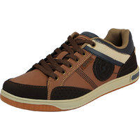 Sparx Tan Brown Men's Synthetic Sneakers
