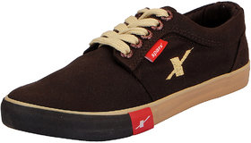 Sparx Brown Men's Canvas Sneakers
