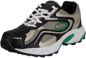 Sparx Black Green Men's Sports Running Shoes