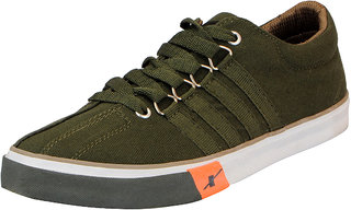 Sparx Olive Men's Canvas Sneakers