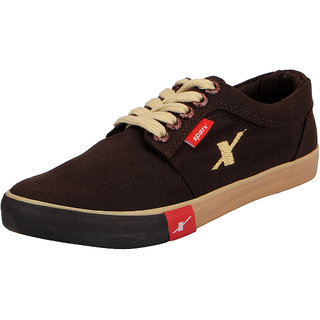 Sparx Brown Mens Canvas Sneakers