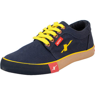 Sparx Navy Mens Canvas Sneakers
