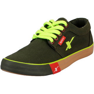 Sparx Olive Mens Canvas Sneakers