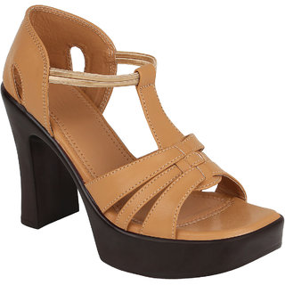 Glitzy Galz Women's Beige Heels