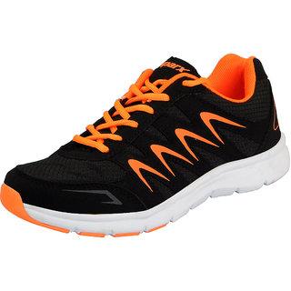 Sparx Black Orange Mens Sports Running Shoes