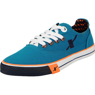 Sparx Green Navy Mens Canvas Sneakers