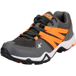 Sparx Grey Orange Men's Training Shoes