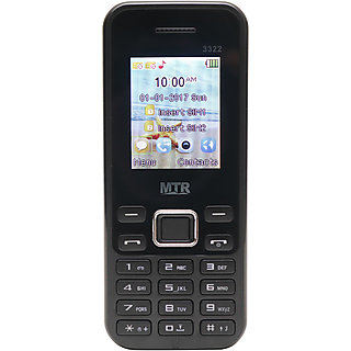 MTR MT3322 DUAL SIM MOBILE PHONE BLACK