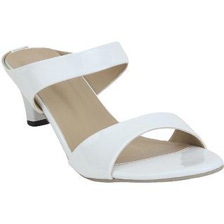 Glitzy Galz Women's White Heels