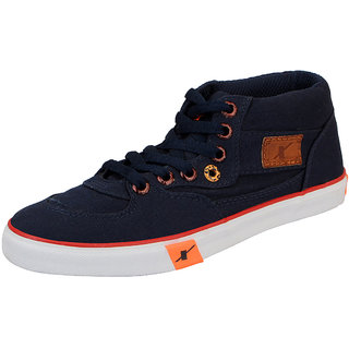 Sparx Navy Mens Canvas Ankle Sneakers